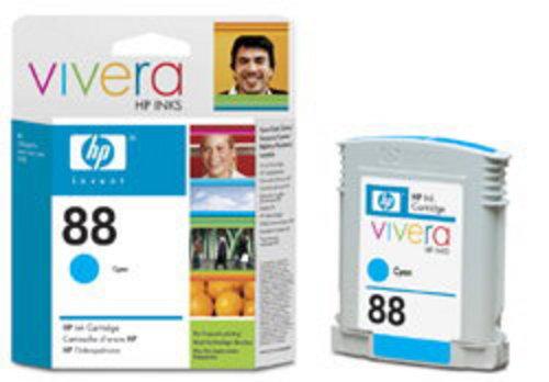 HP No. 88, Cartouche d'encre large cyan, dye, Vivera d'encre, C9391AE