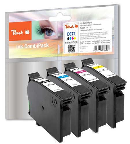 Peach Spar Pack Tintenpatronen kompatibel zu Epson T071, T0715