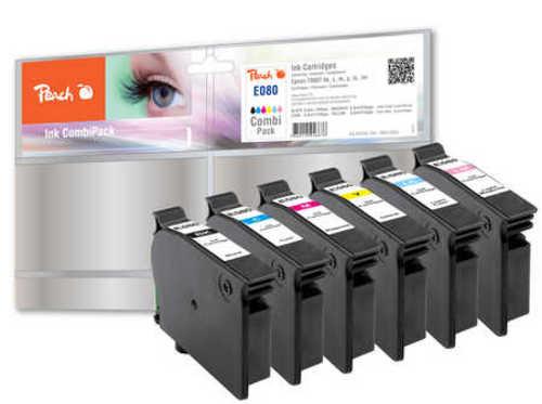 Peach Spar Pack Tintenpatronen kompatibel zu Epson T080, T0807