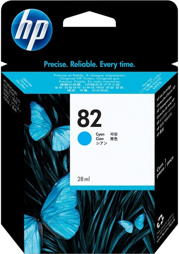 HP No. 82, Cartuccia d'inchiostro cyan, C4911A, 69 ml