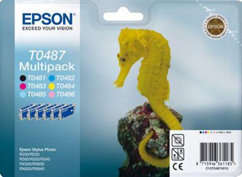 Epson T04874010, Multipack Dye farbig Enthält T048140bis T048640