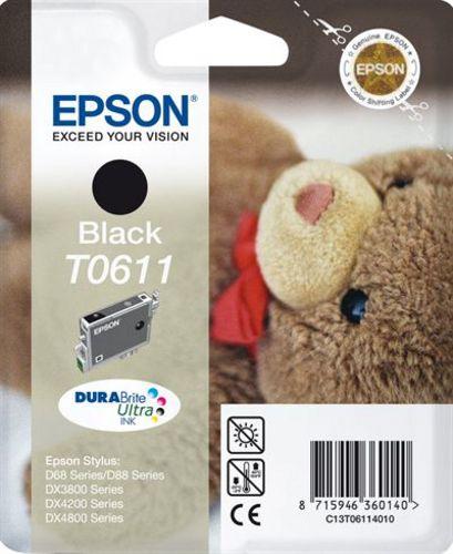 Epson T06114010, Cartuccia d'inchiostro nero, 8ml, 250 pagine