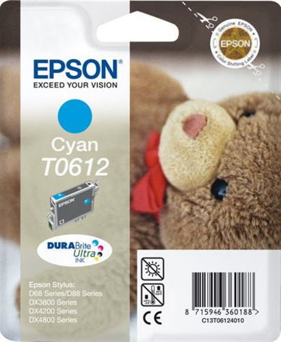 Epson T06124010, Cartuccia d'inchiostro cyan, 8ml, 250 pagine
