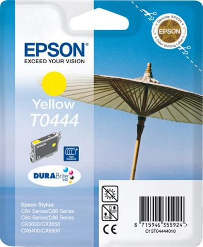 Epson T04444010, Cartuccia d'inchiostro giallo. 13ml, 400 pagine High Capacity