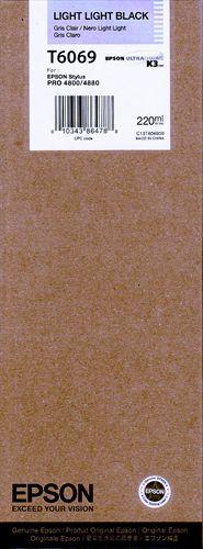 Epson T606900, Cartuccia d'inchiostro nero claro claro, 220ml