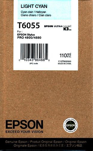 Epson T605500, Cartuccia d'inchiostro cyan claro, 110 ml