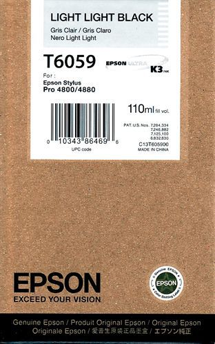 Epson T605900, TPA light light schwarz, 110ml