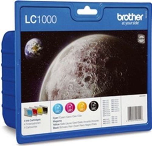 Brother LC1000VALBP, TPA schwarz, cyan, magenta, yellow, Value Pack