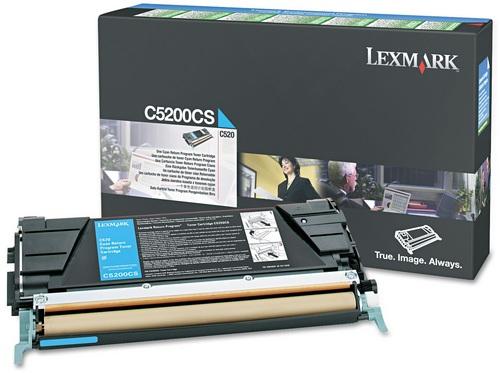 Lexmark C5200CS, Toner cyan, 1'500 pagine