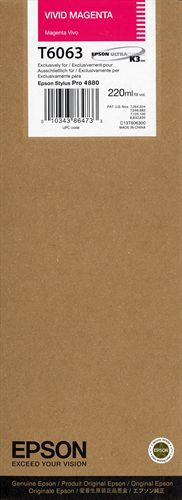 Epson T606300, TPA vivid magenta, 220ml