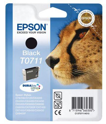 Epson T0711, Cartuccia d'inchiostro nero, DuraBrite Ultra