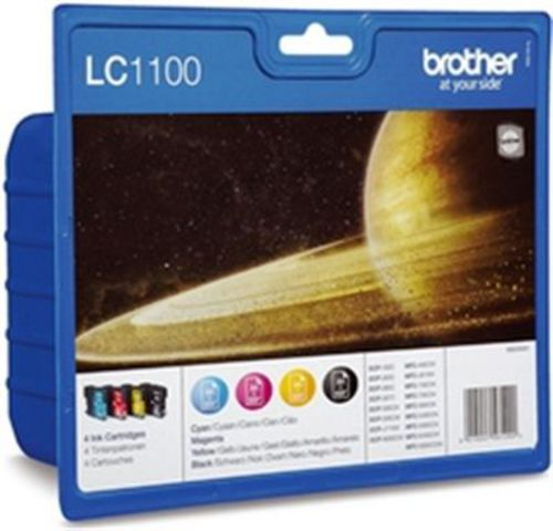 Brother LC1100VALBP, Cartouches d'encre noir, cyan, magenta, jaune, Value Pack