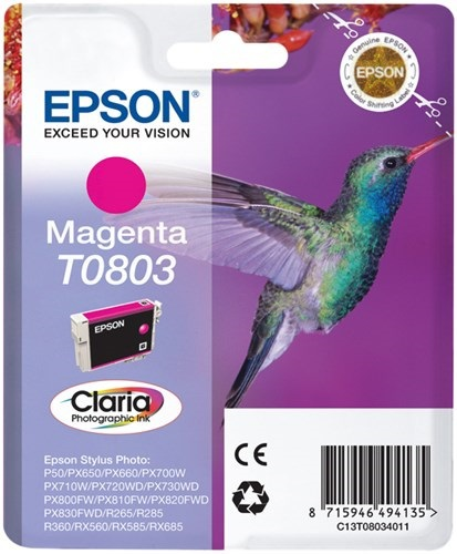 Epson T0803, Cartuccia d'inchiostro magenta, 7.4ml