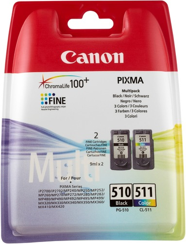 Canon PG-510 & CL-511 Combo Pack Cartuccia d'inchiostro nero e color