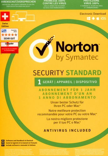 Norton Security Standard 3.0 1 User 1 PC
