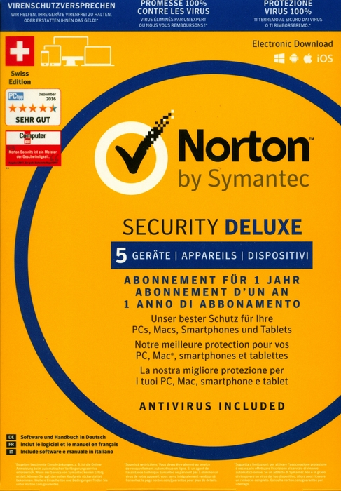 Norton Security Deluxe 3 0 1 User 5 Pc Pc Mac Android Ios