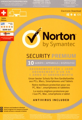 Norton Security Premium 2016 3.0 25 GB 1 User 10 PC