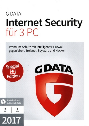GData Internet Security 2017 Swiss Edition (3 PC)