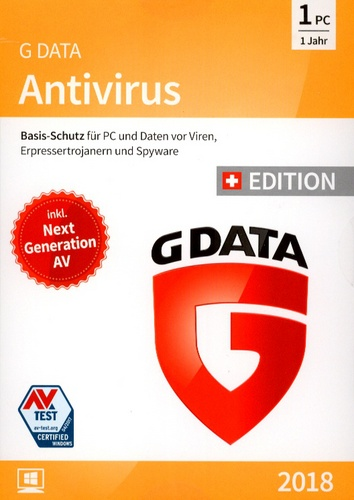 GData AntiVirus 2018 Swiss Edition (1PC)