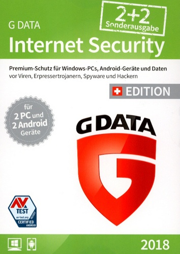 GData Internet Security 2018 Sonderausgabe 2+2 Swiss Edition