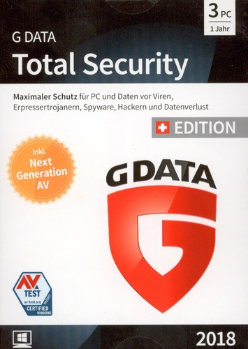 GData Total Security 2018 Swiss Edition (3 PC)