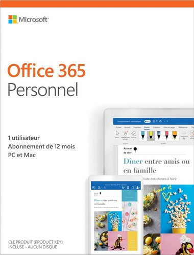 Office 365 Personal Abonnement d'un an