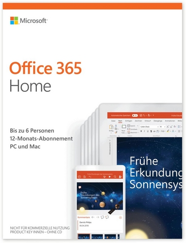 Office 365 Home 1 Jahr Abonnement