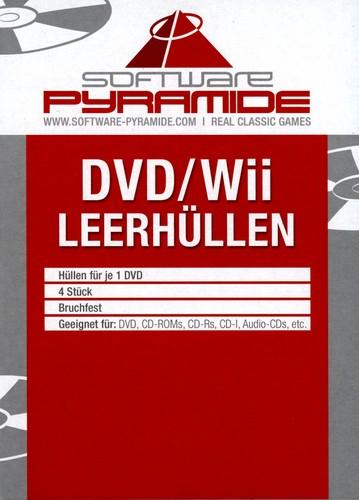 DVD/Wii-Leerhüllen-Pack - 4 Stk [weiss]