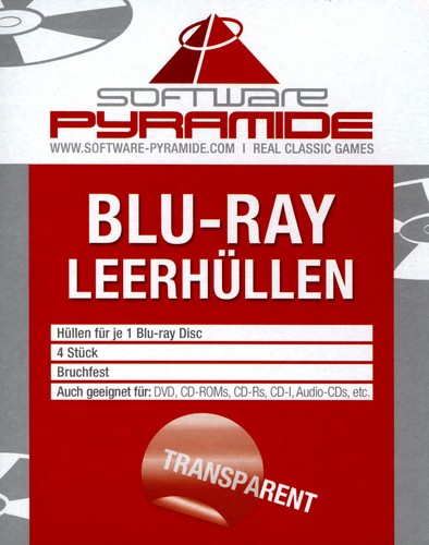 Blu-Ray-Leerhüllen-Pack - 4 Stk [transparent]