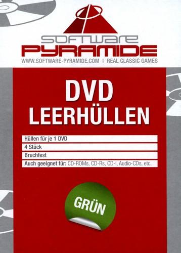 DVD-Leerhüllen-Pack - 4 Stk [grün]