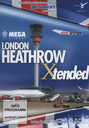 London Heathrow Mega Airport Xtended für FS2004/X und Prepar 3D V2