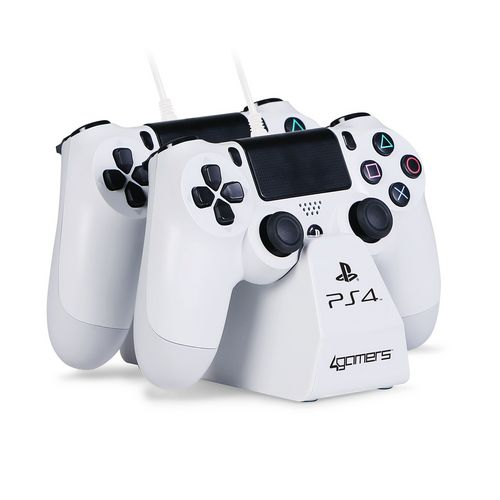 CHARGE - Play & Charge Cables with Desktop Stand - white [PS4]