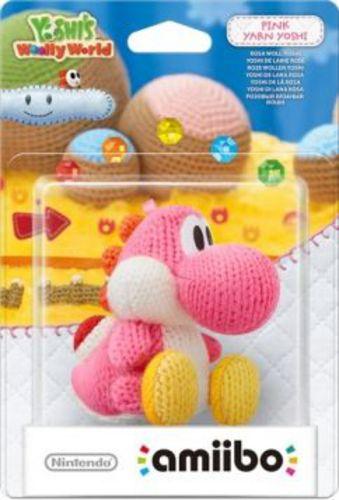 amiibo Yoshi's Woolly World Character - Yarn Yoshi pink