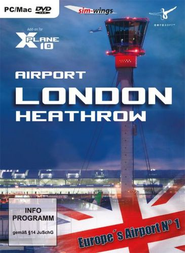 Airport London Heathrow für X-Plane 10 [Add-On] [DVD]