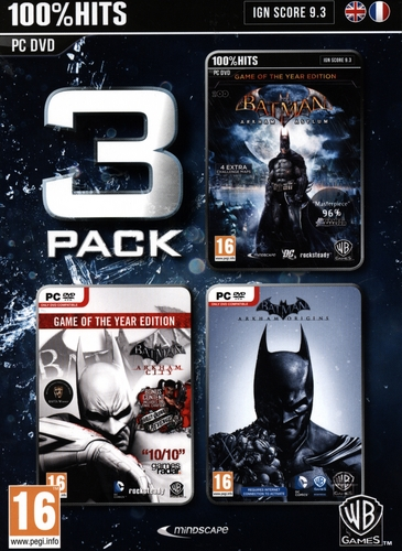 Batman Pack 3 (Origins + City + Asylum) [DVD]