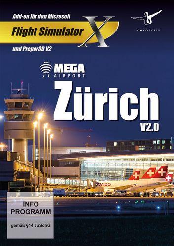Zürich Mega Airport V 2.0 für FSX und Prepar3D V2 [Add-On] [DVD]