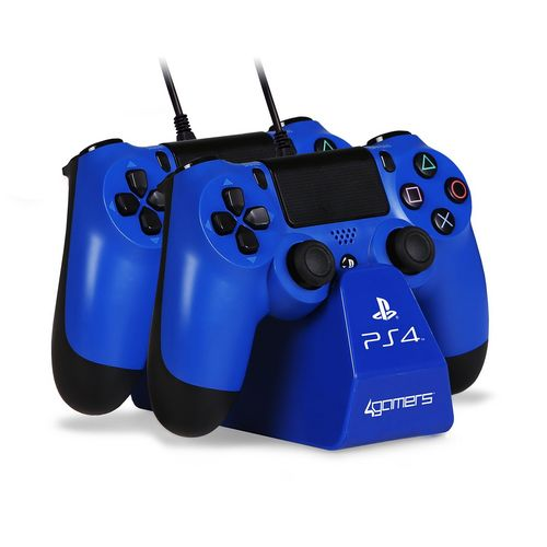 CHARGE - Play & Charge Cables with Desktop Stand - blue [PS4]