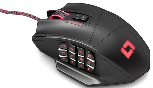 LM30 MMO Gaming Mouse 16400 DPI - black