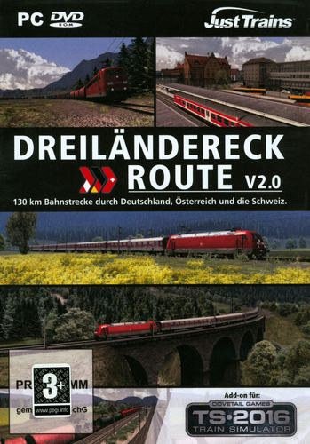Dreiländereck Route V2.0 für TS2016 [Add-On] [DVD]