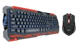 Combo Sencaic black/red Gaming Keyboard & Mouse [Swiss Layout]