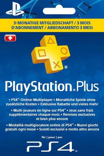 PSN PlayStation Plus Card 3 Monate [PS4]