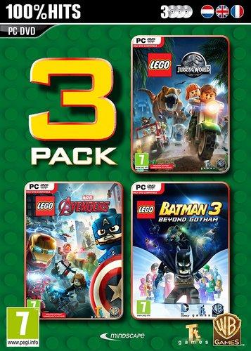 LEGO Box - Jurassic World + Marvel Avengers + Batman 3 [DVD]