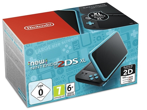 New 2DS XL Console - black-turquoise [New 2DS XL]