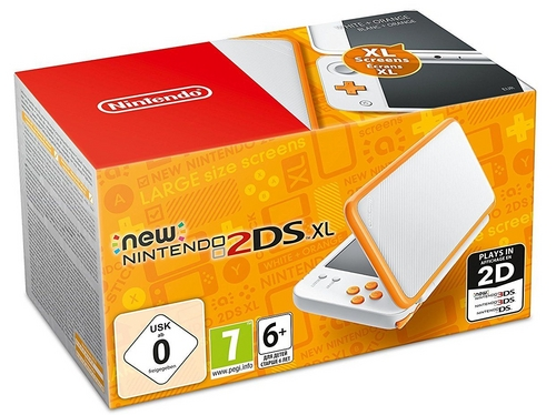 New 2DS XL Console - white-orange [New 2DS XL]