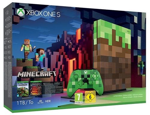 XBOX ONE S Console 1 TB - Minecraft [Limited Edition] Bundle [XONE]