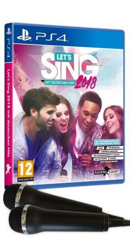 Let's Sing 2018 mit Deutschen Hits + 2 Mics [PS4]