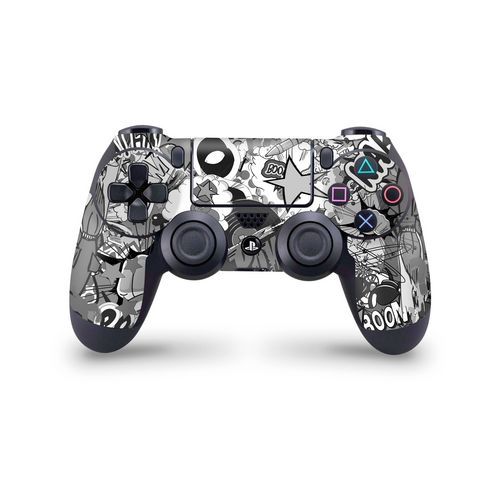 Skin Controller PS4 - Stickerbomb Black/White - 3M [PS4]