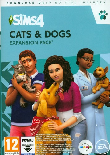 The Sims 4 Cats & Dogs- Expansion Pack  [Code in a Box]