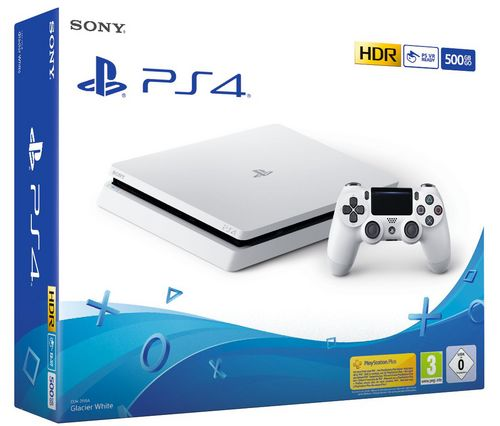 Sony PlayStation 4 Console 500 GB + DS4 Controller - glacier white [PS4]