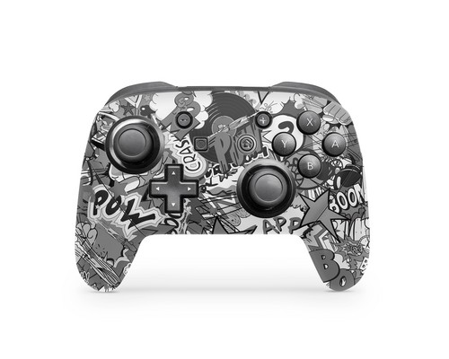 Skin Controller Switch PRO - Stickerbomb Black/White - 3M [NSW]
